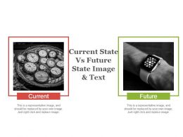 Current State Vs Future State Image And Text Powerpoint Slide Designs