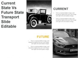 Current State Vs Future State Transport Slide Editable Powerpoint Slide Designs