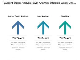 Current Status Analysis Swot Analysis Strategic Goals Unit Objections