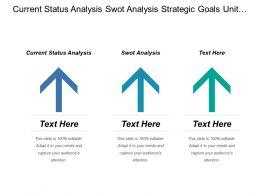 Current Status Analysis Swot Analysis Strategic Goals Unit Objections