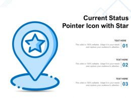 Current Status Pointer Icon With Star