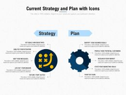 Current Strategy And Plan With Icons