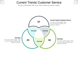 Current Trends Customer Service Ppt Powerpoint Presentation Model Sample Cpb