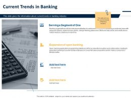 Current Trends In Banking Ppt Powerpoint Presentation Layouts Shapes