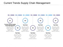 Current Trends Supply Chain Management Ppt Powerpoint Presentation Design Cpb
