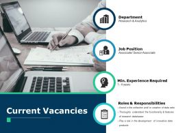Current Vacancies Department Ppt Powerpoint Presentation File Professional
