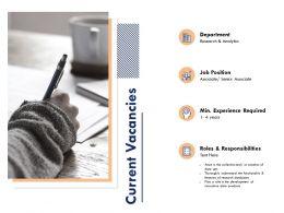 Current Vacancies Department Ppt Powerpoint Presentation Icon Design Ideas