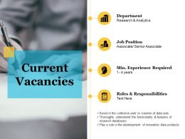 Current Vacancies Example Of Ppt Presentation