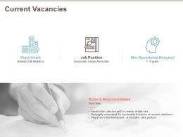 Current Vacancies Job Position Ppt Powerpoint Presentation Inspiration Brochure