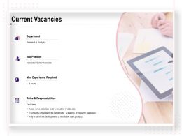 Current Vacancies Job Position Ppt Powerpoint Presentation Visual Aids Pictures