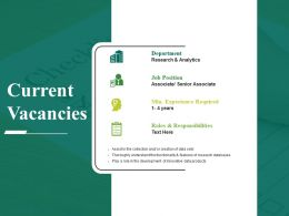 Current Vacancies Powerpoint Slides