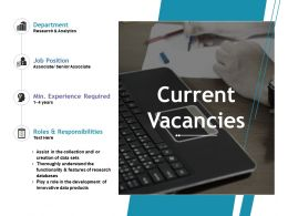 Current Vacancies Ppt File Show