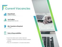 Current Vacancies Ppt Powerpoint Presentation Layouts Guide