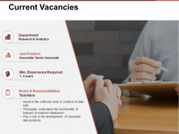 Current Vacancies Presentation Portfolio