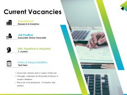 Current Vacancies Sample Of Ppt Presentation