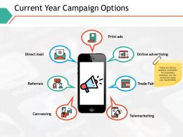 Current Year Campaign Options Ppt Powerpoint Presentation Professional Graphics
