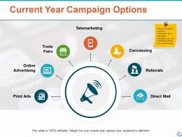 Current Year Campaign Options Ppt Show Infographic Template