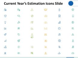 Current Years Estimation Icons Slide Marketing Ppt Powerpoint Presentation Model Skills