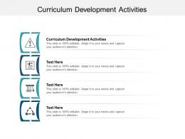 Curriculum Development Activities Ppt Powerpoint Presentation Infographic Template Infographic Template Cpb