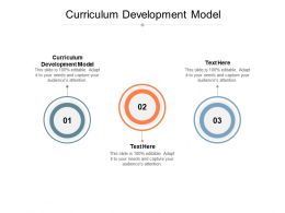 Curriculum Development Model Ppt Powerpoint Presentation Slides Guidelines Cpb