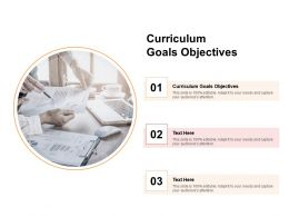 Curriculum Goals Objectives Ppt Powerpoint Presentation Summary Cpb
