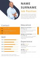 Curriculum Vitae Powerpoint Resume Template For Self Introduction