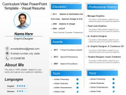creative resume template visual resume slide templates powerpoint
