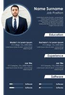 Curriculum Vitae Template With Education And Job Position