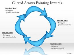 curved arrows pointing inwards 4 stages editable 26