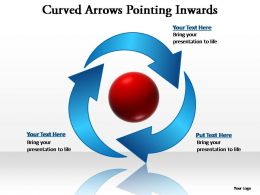 curved arrows pointing inwards editable powerpoint templates