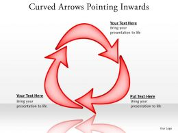 curved arrows pointing inwards editable powerpoint templates infographics images 21