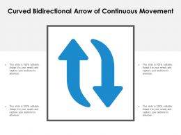 Curved Bidirectional Arrow Of Continuous Movement