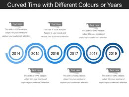 Curved Time With Different Colors Or Years