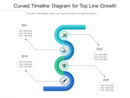 Curved Timeline Diagram For Top Line Growth Infographic Template