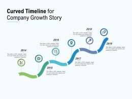 Curved Timeline For Company Growth Story