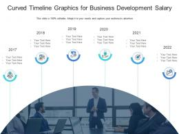Curved Timeline Graphics For Business Development Salary Infographic Template