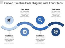 Curved Timeline Path Diagram With Four Steps