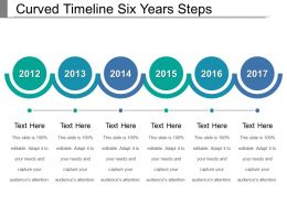 Curved Timeline Six Years Steps