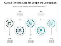 Curved Timeline Slide For Equipment Depreciation Infographic Template