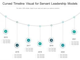 Curved Timeline Visual For Servant Leadership Models Infographic Template
