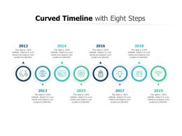 Curved Timeline With Eight Steps