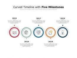 Curved Timeline With Five Milestones