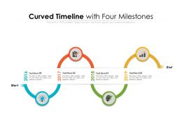 Curved Timeline With Four Milestones