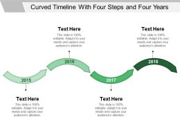 Curved Timeline With Four Steps And Four Years