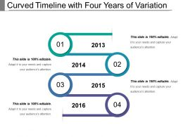 Curved Timeline With Four Years Of Variation