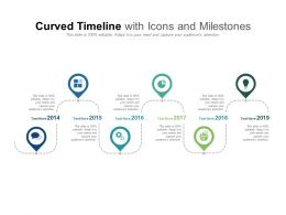 Curved Timeline With Icons And Milestones
