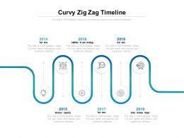Curvy Zig Zag Timeline
