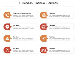 Custodian Financial Services Ppt Powerpoint Presentation Infographics Background Cpb