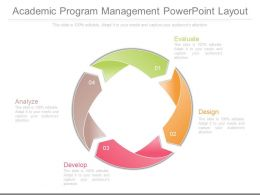 Custom Academic Program Management Powerpoint Layout