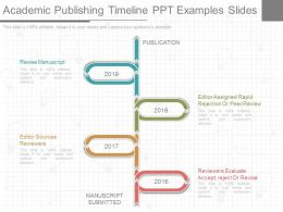 Custom Academic Publishing Timeline Ppt Examples Slides